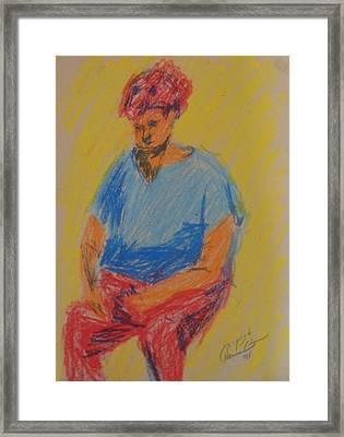 Tali Framed Print by Esther Newman-Cohen