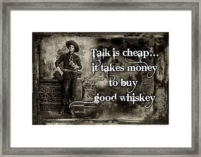 Talk Is Cheap Framed Print by Robert Hudnall