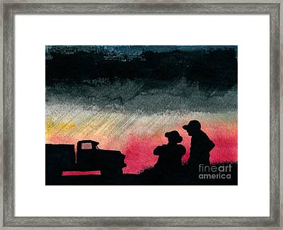 Talk Of Important Things Framed Print by R Kyllo