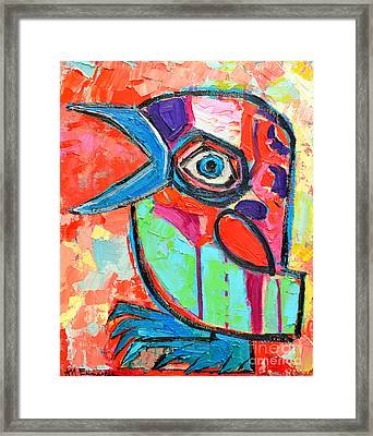 Talkative Baby Bird First This Spring Framed Print by Ana Maria Edulescu