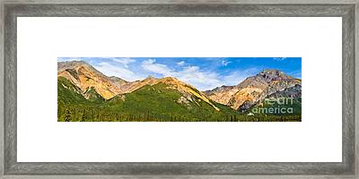 Talkeetna Mountains Framed Print by Chris Heitstuman