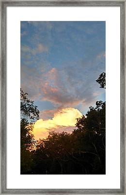 Talking Clouds Framed Print by Jean Marie Maggi