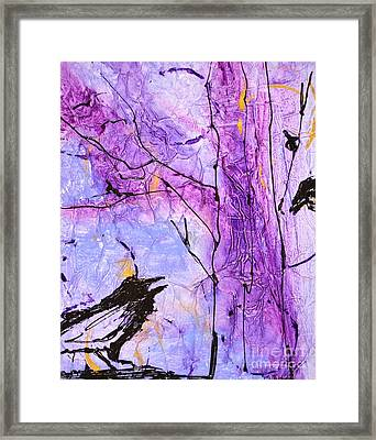 Talking Crows Framed Print