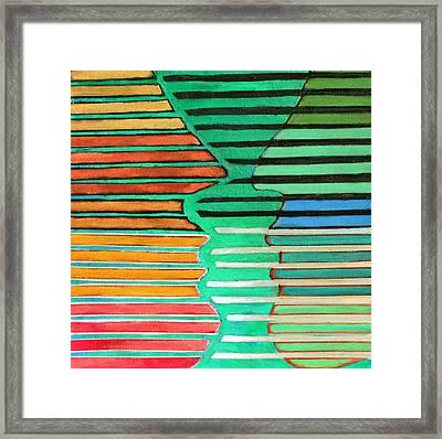 Talking Heads Framed Print by Diane Fine
