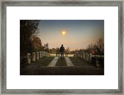 Talking To The Moon Framed Print