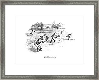 Talking Framed Print by William Steig
