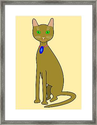 Tall Brown Cat Framed Print