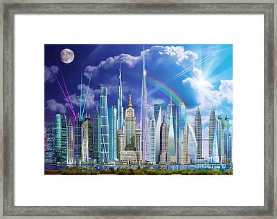 Tall Buildings Framed Print