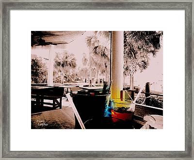 Tall Cold Drink Framed Print by Kim Loftis