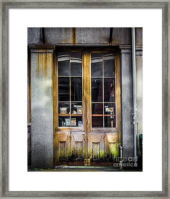 Tall Doors Framed Print