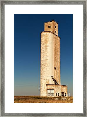 Tall Grain Elevator Framed Print by Sue Smith