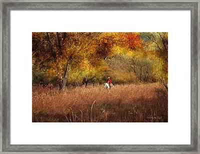 Tall Grass Framed Print by Karen Slagle