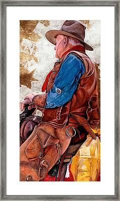 Tall In The Saddle Framed Print