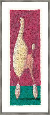 Tall Poodle Framed Print by Brian James
