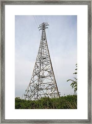 Tall Pylons Framed Print