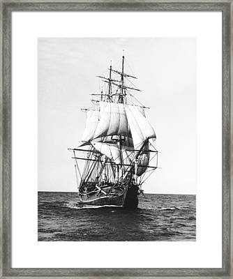 Tall Sailing Ship Framed Print by Underwood Archives