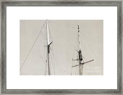 Tall Ship At Dock Framed Print by Barbara Bardzik