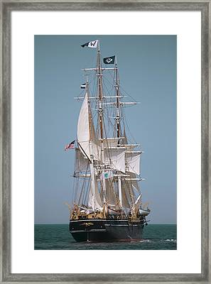 Tall Ship Charles W Morgan Framed Print by Dapixara Art