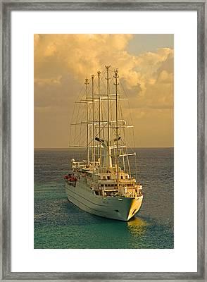 Tall Ship Cruise Framed Print by Dennis Cox WorldViews