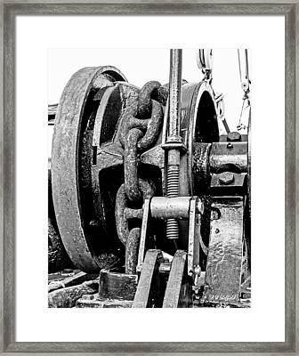 Tall Ship Elissa Anchor Chain Framed Print