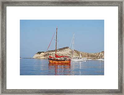 Tall Ship Framed Print by George Katechis