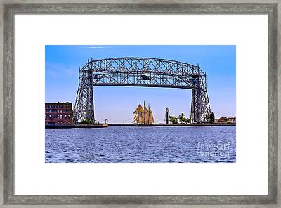 Tall Ship Goodbye Framed Print by Bryan Benson