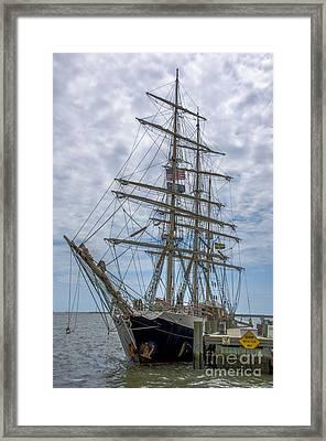 Tall Ship Gunilla Vertical Framed Print by Dale Powell