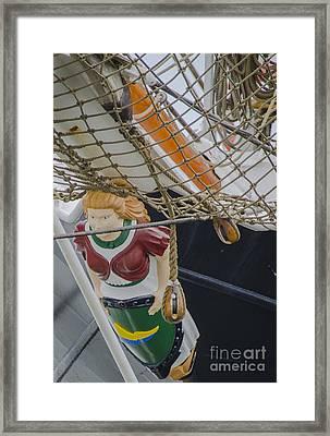 Tall Ship Gunilla Masthead Framed Print by Dale Powell