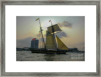 Tall Ship In Charleston Framed Print by Dale Powell