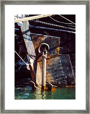 Tall Ship In Douarnenez Harbor Framed Print