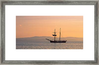 Tall Ship In The Baie De Douarnenez Framed Print