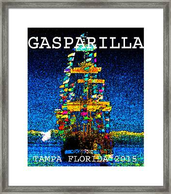 Tall Ship Jose Gasparilla Framed Print by David Lee Thompson