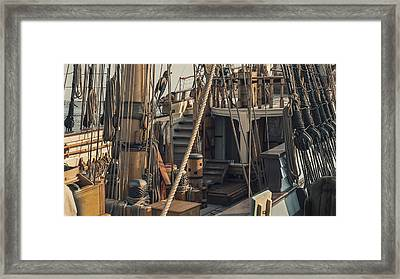 Tall Ship Kalmar Nyckel Ropes Framed Print by Dapixara Art