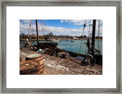 Tall Ship Keeywaydin , Dungarvan Framed Print by Panoramic Images
