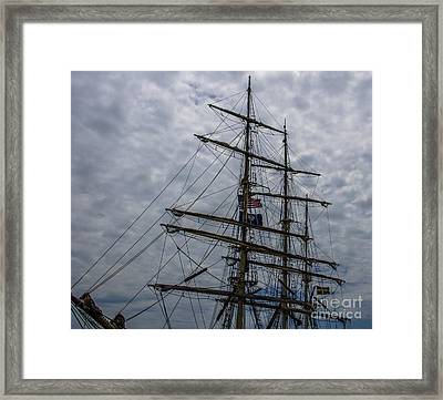 Sailing The Clouds Framed Print by Dale Powell