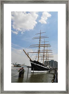 Tall Ship Mushulu At Penns Landing Framed Print