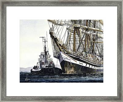 Tall Ship Pallada Framed Print by James Williamson
