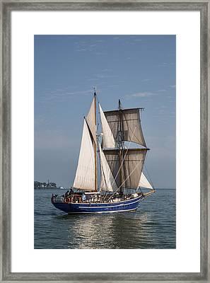 Tall Ship Playfair Framed Print by Dale Kincaid