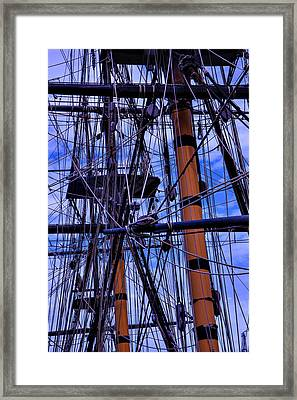 Tall Ship Rigging Of The Hms Surprise Framed Print