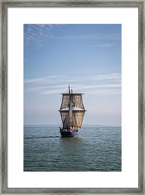 Tall Ship Sailing Framed Print by Dale Kincaid
