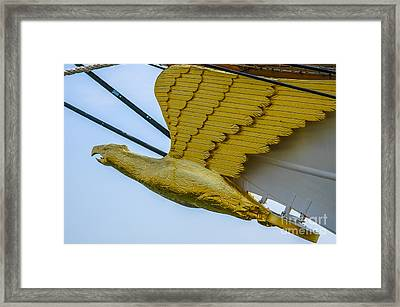 Tall Ship Uscg Barque Eagle Masthead Framed Print