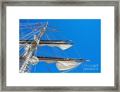 Tall Ship Yards Framed Print