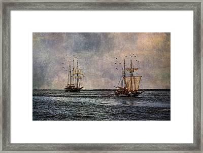 Tall Ships Framed Print by Dale Kincaid