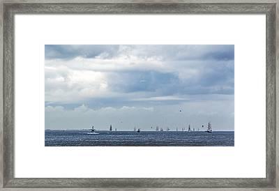 Tall Ships' Exodus Framed Print