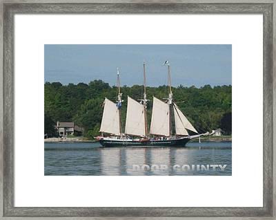 Tall Ships In The Morning Framed Print