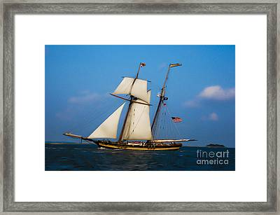 Tall Ships Over Charleston Framed Print by Dale Powell