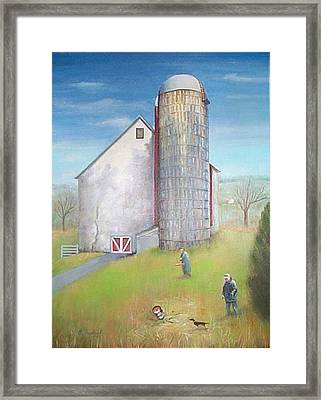 Framed Print featuring the painting Tall Silo by Oz Freedgood