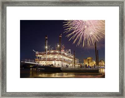 Tall Stacks Framed Print