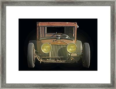 Tall T Retro Rat Framed Print