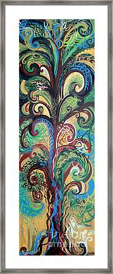 Tall Tree Winding Framed Print by Genevieve Esson